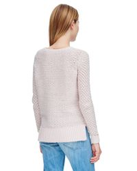 Rebecca Taylor | Pink Metallic Textured Pullover | Lyst