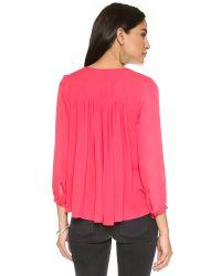 Parker | Pink Safara Blouse | Lyst