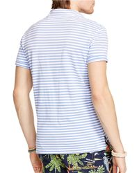 Polo Ralph Lauren | Blue Striped Featherweight Polo Shirt for Men | Lyst