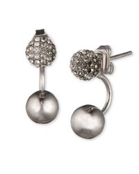 Judith Jack | Metallic 10k Gold-plated 925 Sterling Silver, Crystal And Marcasite Two-way Fireball Earrings | Lyst