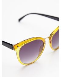 Free People | Yellow Day Venture Sunnies | Lyst