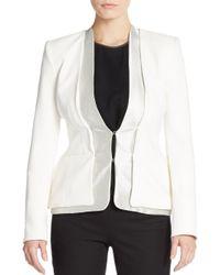 Altuzarra - White Foxtail Silk Suiting Blazer - Lyst