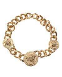 Versace | Metallic Medusa Logo Choker | Lyst