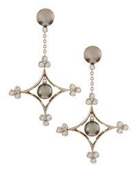 Assael - Metallic Tahitian Pearl Diamonddrop Earrings - Lyst