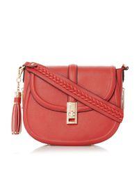 Dune - Red Deidre Saddle Bag - Lyst