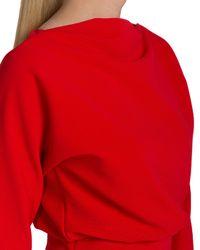 Badgley Mischka | Red Dolman-Sleeve Day Dress | Lyst