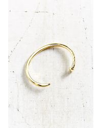 Giles & Brother | Metallic Skinny Railroad Spike Polished Brass Cuff Bracelet | Lyst