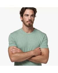James Perse - Green Melange Jersey Crew for Men - Lyst