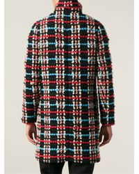 Chloé | Multicolor Textured Checkered Coat | Lyst