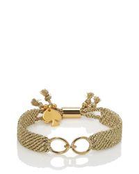 kate spade new york - Metallic On Purpose Charm Bracelet - Lyst