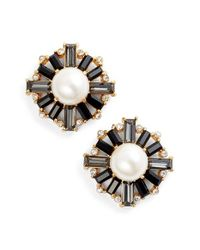 kate spade new york | Multicolor Crystal Stud Earrings - Neutral Multi | Lyst
