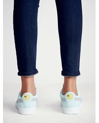 Free People | Blue Suede Classic Sneaker | Lyst