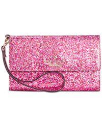 Kate Spade | Pink Glitterbug Iphone 6 Wristlet | Lyst