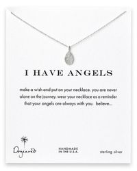 Dogeared | Metallic Sterling Silver Angel Pendant Necklace | Lyst