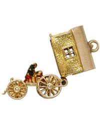 Annina Vogel - Metallic Vintage Gold Gypsy Wagon Charm - Lyst