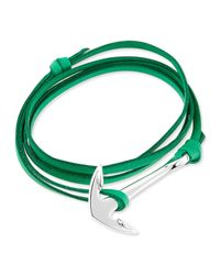 Miansai | Green Anchor Leather Bracelet for Men | Lyst