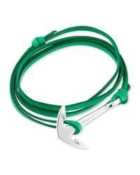 Miansai - Green Anchor Leather Bracelet - Lyst