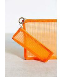 Urban Outfitters | Orange Mesh Pouch Set | Lyst