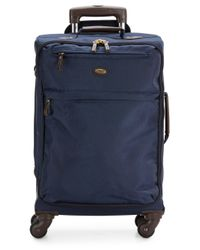 "Bric's | Blue 21"" Carry-on Spinner Suitcase for Men 