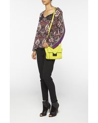 Nicole Miller | Yellow Prima Crossbody Bag | Lyst