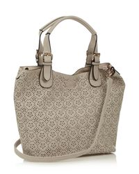 Oasis - Natural Cut Out Shopper - Lyst