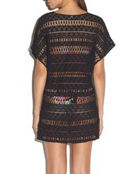 MILLY - Black Cabana Eze Dolman Crochet Coverup - Lyst