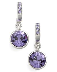 Givenchy | Purple Jeweled Drop Earrings - Tanzanite | Lyst