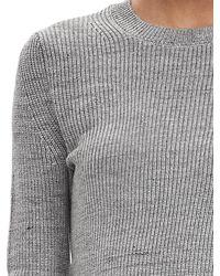 Banana Republic | Gray Micro-rib Sweater Pullover | Lyst