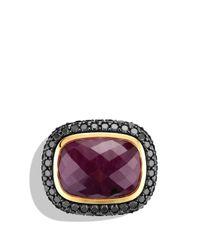 David Yurman - Metallic Waverly Limitededition Ring with Ruby Black Diamonds Gold - Lyst