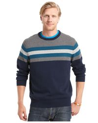 Izod | Blue Varsity Striped Sweater for Men | Lyst