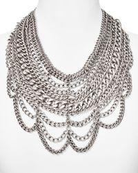 BaubleBar | Metallic Courtney Bib Necklace, 17"