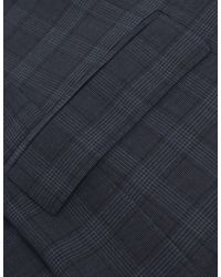 Jules B - Blue Super 100 Wool Two Piece Check Suit for Men - Lyst