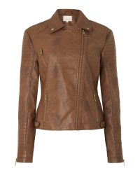 Linea Weekend | Brown Dawn Pu Biker Jacket | Lyst