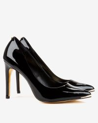 Ted Baker - Black Pointed Leather Court Shoes - Lyst