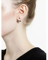 Yvonne Léon   Black Diamond Lobe Earring   Lyst
