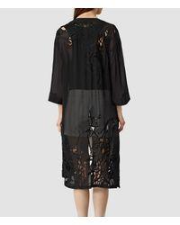 AllSaints - Black Iree Kimono - Lyst