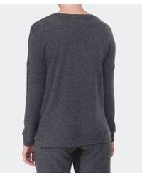 Velvet By Graham & Spencer - Gray Sancha Brushed Sweater - Lyst