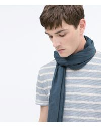 Zara | Blue Scarf for Men | Lyst