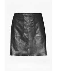 French Connection | Black Jetson Leather Skirt | Lyst