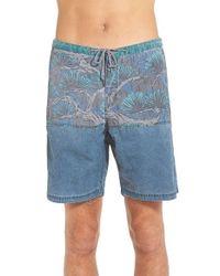 Katin Blue 'bonsai' Hybrid Shorts for men