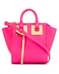 Sophie Hulme   Pink Small 'holmes North South' Crossbody Bag   Lyst