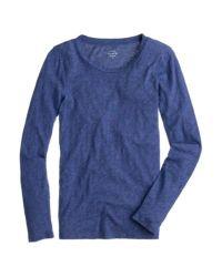J.Crew - Blue Tissue Long-sleeve T-shirt - Lyst