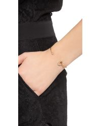 Tai Metallic Hexagon Bracelet - Montana/gold