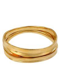 Robert Lee Morris - Metallic Goldtone Bangle Bracelet Set - Lyst