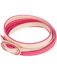 Fendi   Pink Double-wrap Thin Bracelet   Lyst