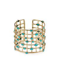 Melinda Maria | Metallic Cage Cuff | Lyst