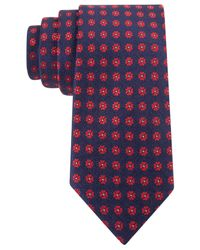 Tommy Hilfiger | Blue Blended Flower Slim Tie for Men | Lyst