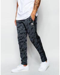 Lyst - adidas Originals Skinny Camo Joggers Aj7899 in Blue for Men 6b26d7a77d01