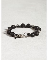 John Varvatos | Black Lava Bead Bracelet for Men | Lyst