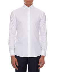Bottega Veneta   White Napoli Button-cuff Cotton Shirt for Men   Lyst